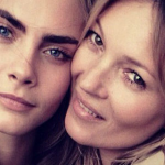 Kate Moss et Cara Delevingne posent pour Burberry