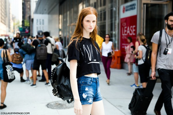 Nyfw New York Fashion Week Spring Summer 2014 Street Style Say Cheese Collage Vintage Model