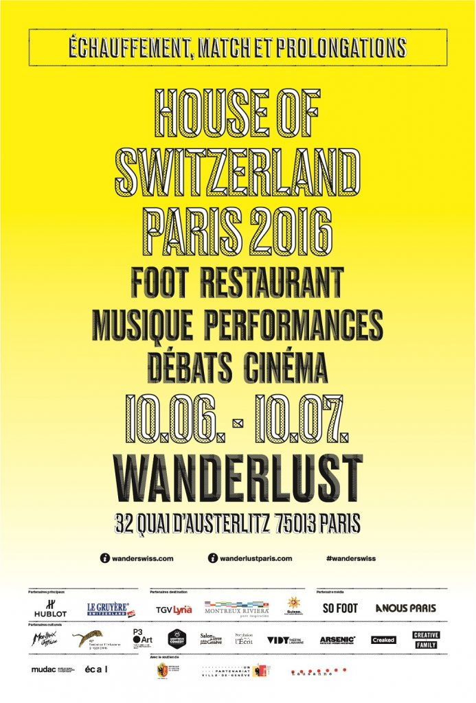 House of Switzerland Wanderlust Paris - Affiche jaune - Modzik