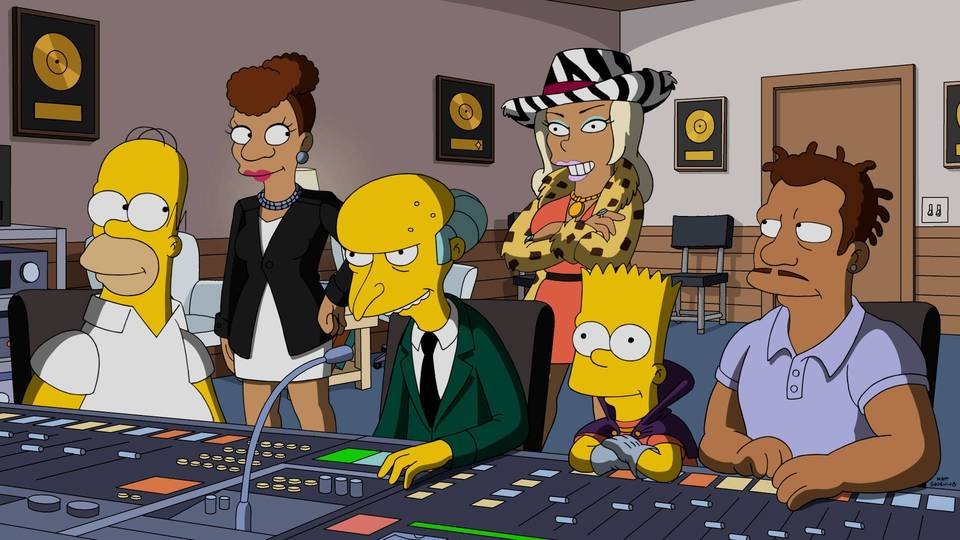 "THE SIMPSONS: In the first-ever one-hour episode of THE SIMPSONS, featuring Emmy Award nominee Taraji P. Henson (EMPIRE), Snoop Dogg, Common and RZA as guest voices, Mr. Burns tries to relive his glory days, and crosses paths with a mysterious music mogul. After being conned by him and reduced to bankruptcy, Burns seeks revenge on the music producer with the help of Homer, Bart, rapper Jazzy James (guest voice Keegan-Michael Key) and the mogul's ex-wife, Praline (guest voice Taraji P. Henson), along with Snoop Dogg, Common and RZA (guest-voicing as themselves) in the all-new ""The Great Phatsby,"" special one-hour episode of THE SIMPSONS airing Sunday, Jan. 15 (8:00-9:00 PM ET/PT) on FOX.  THE SIMPSONS ™ and © 2016 TCFFC ALL RIGHTS RESERVED. THE SIMPSONS ™ and © 2016 TCFFC ALL RIGHTS RESERVED. CR: FOX."