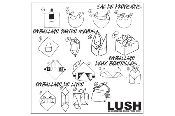 Lush nous apprend à nouer le furoshiki
