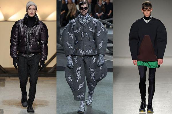 john-galliano-thom-browne-bibendums-catwalk-tendances-masculines-automne-hiver-2014