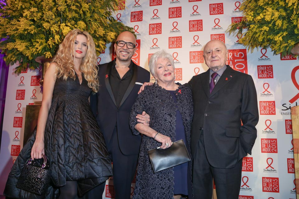 Pascal Obispo, Line Renaud et Pierre Bergé Diner de la mode 201