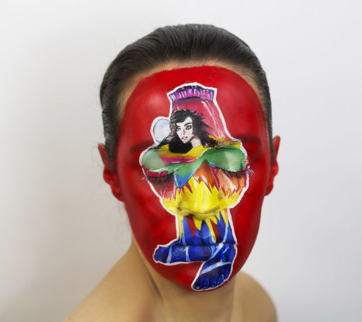 Peinture-Visage-album-Bjork-720x641