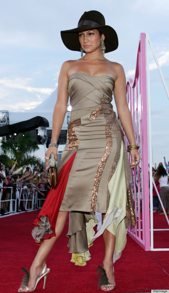 Jennifer Lopez during 2004 MTV Video Music Awards - Red Carpet at American Airlines Arena in Miami, Florida, United States. (Photo by Jason Squires/WireImage)