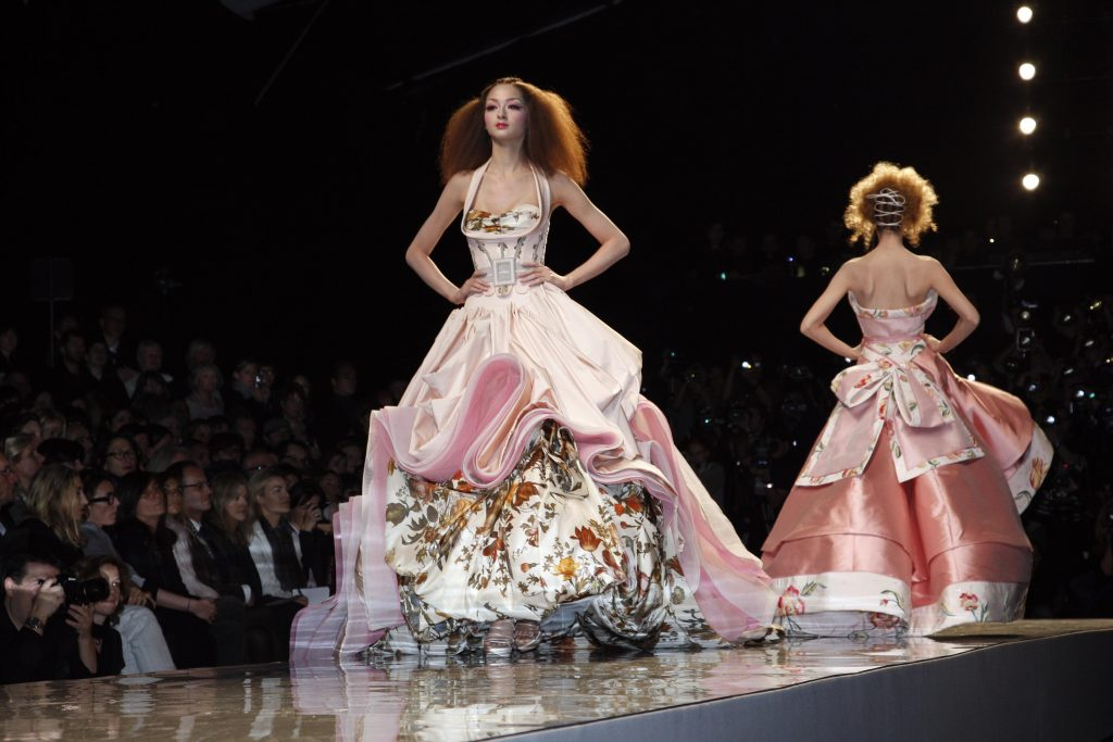 PARIS - JANUARY 26: A model walks the runway at the Christian Dior fashion show during Paris Fashion Week Haute Couture Spring/Summer 2009 on January 26, 2009 in Paris, France. (Photo by Eric Ryan/Getty Images)