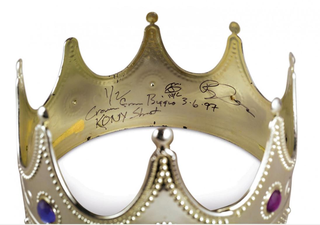 Sothebys Biggie plastic Crown