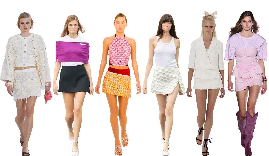 mini jupe fashion week paris