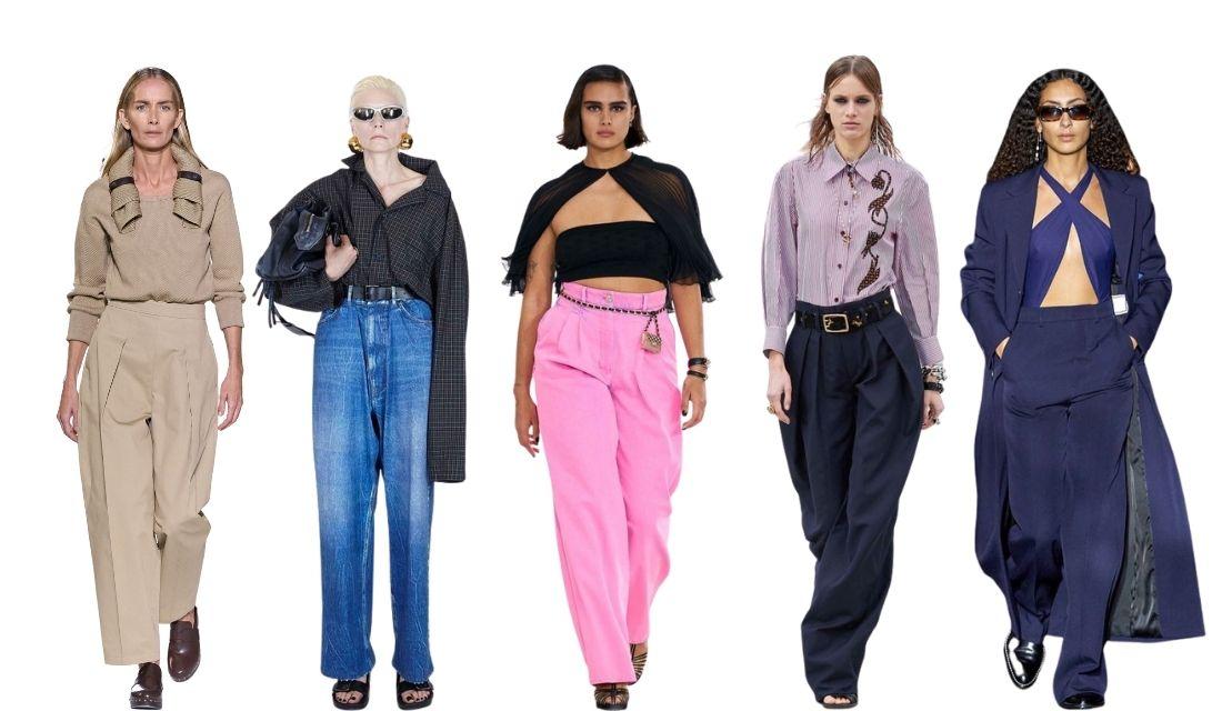 pantalon ultra large fashion week paris