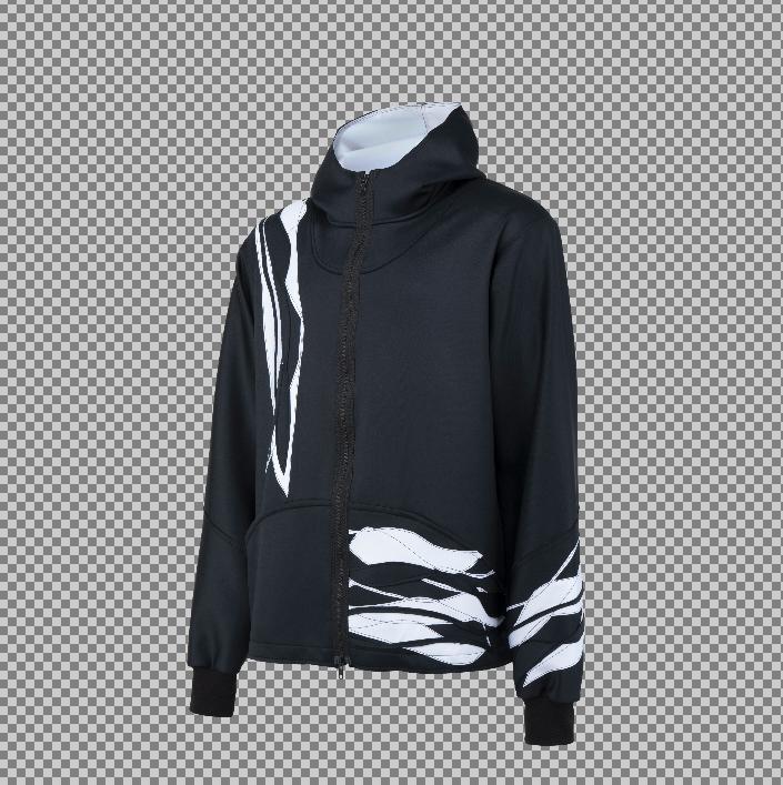 Psg x Prince, black jacket white overlay