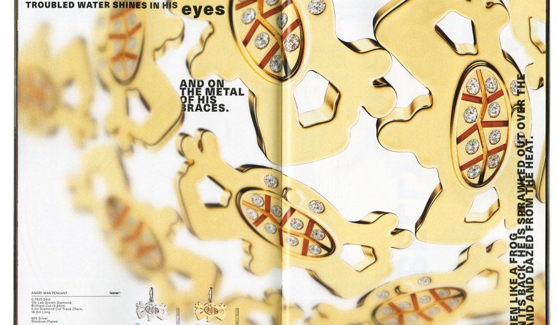 Frank Ocean magazine Homer marque de luxe bijoux