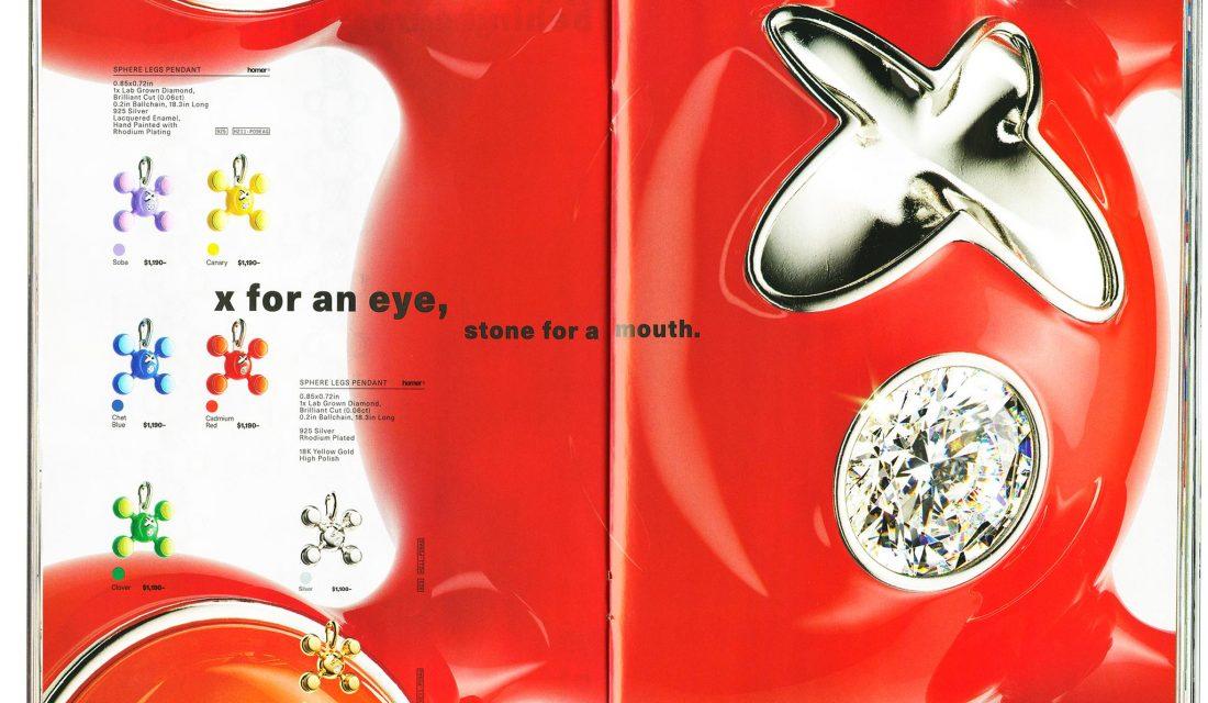 Frank Ocean magazine Homer marque de luxe bijoux murakami